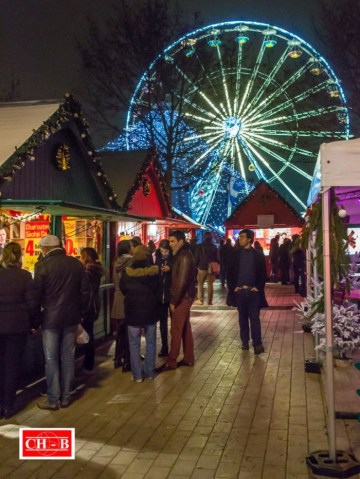 Le marché de Noël de Dijon sublimé par la grande roue